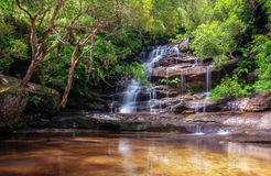 Somersby Falls, NSW, Australia. This is one of a series of waterfalls along Floods Creek in Brisbane Water National Park, near Gosford and very close to the Stock Image