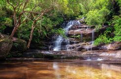 Somersby Falls, NSW, Australia. Somersby Falls is one of a series of waterfalls along Floods Creek in Brisbane Water National Park, near Gosford in New South stock images