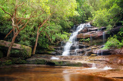 Somersby Falls up close. This beautiful waterfall is located only one hour drive North of Sydney, near Gosford and very close to Australian Reptile Park Stock Photo