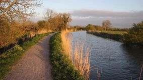 Somerset canal Bridgwater and Taunton England UK peaceful waterway Stock Photo