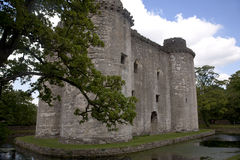 Somerset castle. Nunney castle near Frome, Somerset UK. Built in the late 14th century by Sir John Delamare, the castle is moated, The castle was damaged during Royalty Free Stock Photography
