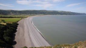 Somerset coast England UK near Exmoor stock video footage