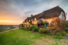 Somerset cottages Stock Photography