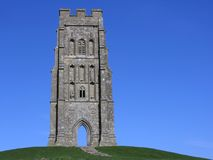Somerset glastonbury tor Zdjęcia Stock