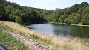 Somerset Hawkridge reservoir Quantock Hills England stock video