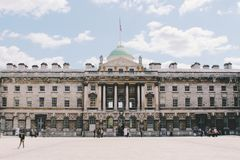 Somerset House Exterior London England Stock Photography