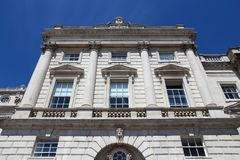 Somerset House. Landmark building in London, UK. Currently part of King's College Royalty Free Stock Photography