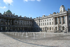 Somerset House, London. Courtyard of Somerset House, London stock photos