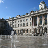 Somerset House, London. Courtyard of Somerset House with fountains, London royalty free stock photos