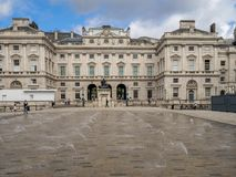 Somerset House, London. LONDON UK - AUG 3: Somerset House on August 3, 2017 in London England. Somerset House is a Neoclassical building on the south side of the royalty free stock photos