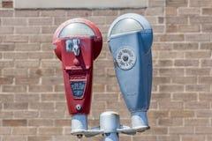 Somerset land Pennsylvania, USA Maj 19, 2014 Parkeringsmeter Royaltyfria Bilder