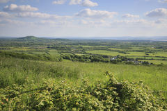 Somerset landscape view Royalty Free Stock Images