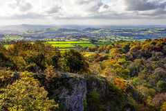 Somerset Levels from Ebbor Rock, UK Stock Photography
