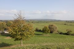 Somerset Levels und Ackerland England Stockfoto