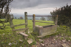 Somerset stile. A stile or gate in Somerset Royalty Free Stock Image