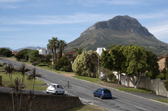 Somerset West in the Western cape South Africa. Helderberg Mountain overlooking Somerset West houses South Africa Stock Photos