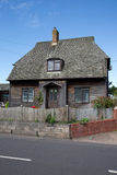 Somerset wooden house. Old wooden house in the county of Somerset in the west of the UK stock photography
