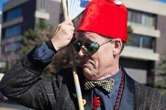 Somerville, Massachusetts, USA - OCTOBER 11, 2015 - HONK Festival of activist street bands. Royalty Free Stock Image