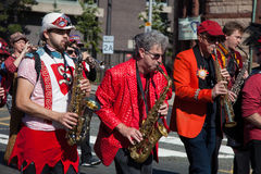 Somerville, Massachusetts, USA - OCTOBER 11, 2015 - HONK Festival of activist street bands. Somerville, Massachusetts, USA - OCTOBER 11, 2015 - Second day of Royalty Free Stock Photography