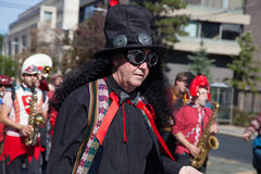 Somerville, Massachusetts, USA - OCTOBER 11, 2015 - HONK Festival of activist street bands. Stock Photos