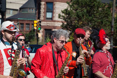 Somerville, Massachusetts, USA - OCTOBER 11, 2015 - HONK Festival of activist street bands. Somerville, Massachusetts, USA - OCTOBER 11, 2015 - Second day of Stock Photo