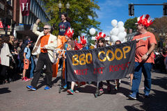 Somerville, Massachusetts, USA - OCTOBER 11, 2015 - HONK Festival of activist street bands. Somerville, Massachusetts, USA - OCTOBER 11, 2015 - Second day of Stock Photos