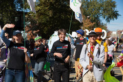 Somerville, Massachusetts, USA - OCTOBER 11, 2015 - HONK Festival of activist street bands. Somerville, Massachusetts, USA - OCTOBER 11, 2015 - Second day of Stock Photography