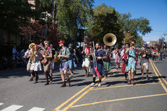 Somerville, Massachusetts, USA - OCTOBER 11, 2015 - HONK Festival of activist street bands. Somerville, Massachusetts, USA - OCTOBER 11, 2015 - Second day of royalty free stock images