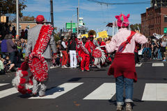 Somerville, Massachusetts, USA - OCTOBER 11, 2015 - HONK Festival of activist street bands. Somerville, Massachusetts, USA - OCTOBER 11, 2015 - Second day of Stock Image