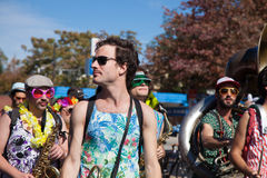 Somerville, Massachusetts, USA - OCTOBER 11, 2015 - HONK Festival of activist street bands. Somerville, Massachusetts, USA - OCTOBER 11, 2015 - Second day of stock images