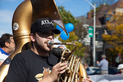 Somerville, Massachusetts, USA - OCTOBER 11, 2015 - HONK Festival of activist street bands. Somerville, Massachusetts, USA - OCTOBER 11, 2015 - Second day of stock image
