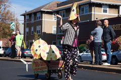Somerville, Massachusetts, USA - OCTOBER 11, 2015 - HONK Festival of activist street bands. Somerville, Massachusetts, USA - OCTOBER 11, 2015 - Second day of royalty free stock photo