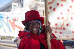Somerville, Massachusetts, USA - OCTOBER 11, 2015 - HONK Festival of activist street bands. Stock Photo