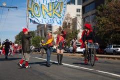 Somerville, Massachusetts, USA - OCTOBER 11, 2015 - HONK Festival of activist street bands. Stock Image