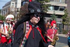 Somerville, Massachusetts, USA - 11. Oktober 2015 - HUPEN Sie Festival von Aktivistenstraßenbändern Stockfotos