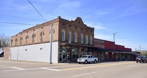 Somerville Tennessee Downtown Building Royalty-vrije Stock Foto
