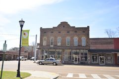 Somerville Tennessee Town Square Building Stock Foto