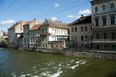 Somes river. View of the Somes river that pass in Cluj Napoca Royalty Free Stock Photography