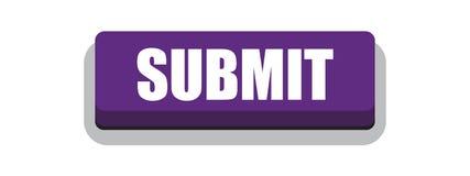 Someta la púrpura del botón stock de ilustración