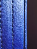 Something blue. Beautiful blue leather royalty free stock photos