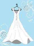 Something Blue Wedding Dress Royalty Free Stock Image