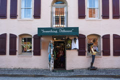 Something Different. Souvenir shop located on River Street in Savannah, GA Stock Images