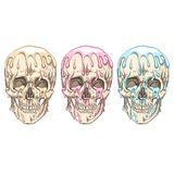 Something is flowing on the skull. Royalty Free Stock Images
