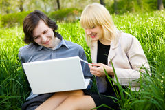 Something Funny In Notebook Stock Photography