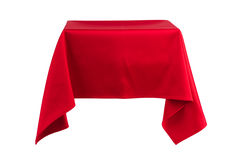 Something hanging in the air covered with cloth. Something hanging in the air covered with red cloth Stock Photos