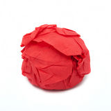 Something round in a red napkin Stock Photo