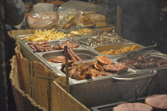 Something to eat. Food on display at an winter holiday Royalty Free Stock Image