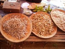 Something to eat in a street market. In burma Royalty Free Stock Photo