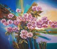 Artwork. Sakura flowers. Author: Nikolay Sivenkov. stock illustration
