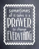 Sometimes Prayer Chalkboard Art Royalty Free Stock Photo